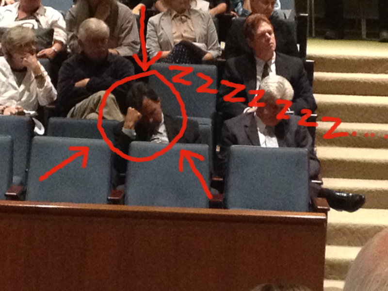 Superman (John Schatz) sleeps through Cadiz hearing
