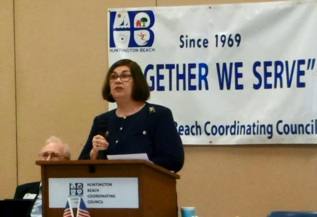 Cathy Green at Huntington Beach Coordinating Council
